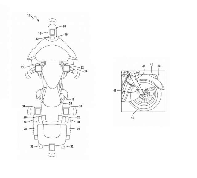 Motorcycle cornering headlights