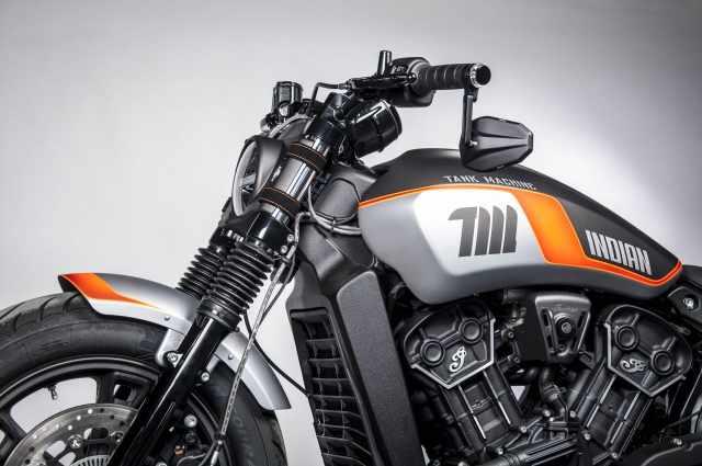 Indian Motorcycle Neon Tank Machine details