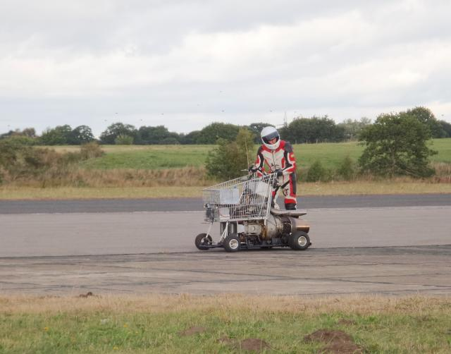 Jet shopping trolley at Straighliners land speed records. Elvington, Nth Yorks. 16 Sept. 2018 (Photo Tom Ellis) 2.jpg