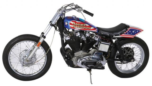 Evel Knievel S 1976 Harley Davidson Goes To Auction: 'Viva Knievel!' Bike For Sale