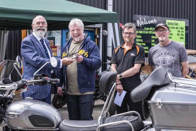 Norman Hyde, Simon Weston, 'Hank' Hancox & Robin Davies (both of Trike Design)