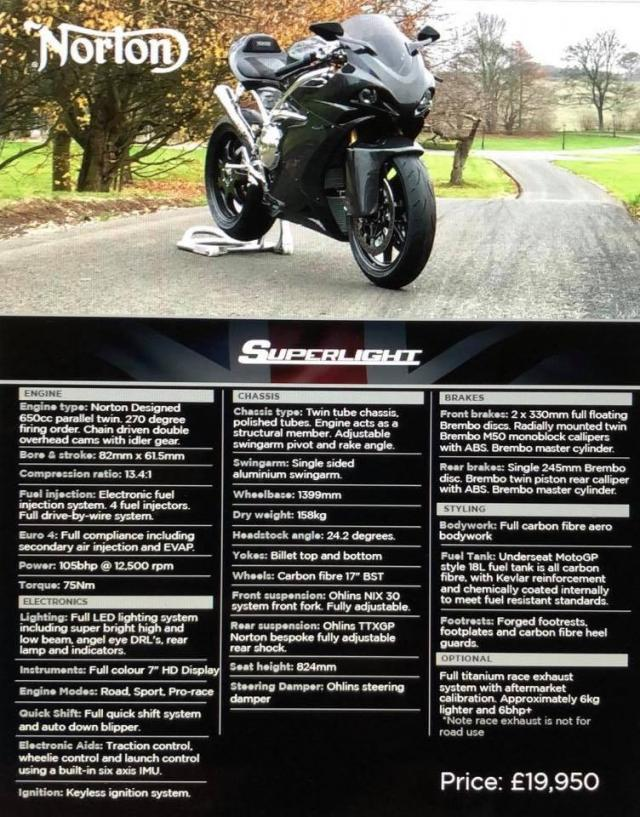 Norton superlight specs