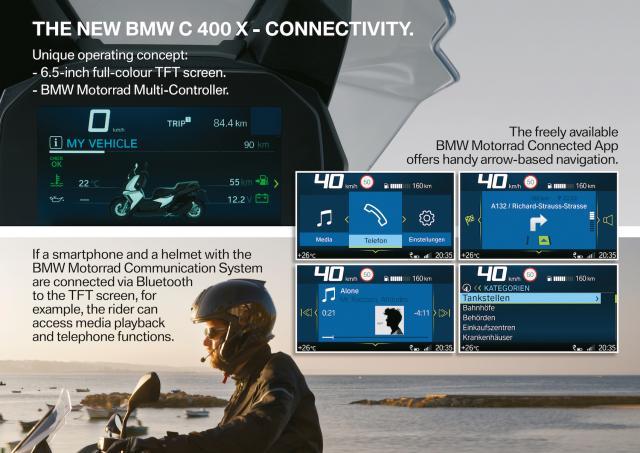 BMW C400 X dash