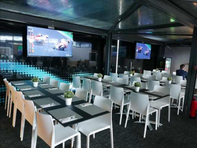 Petronas Yamaha team cafe