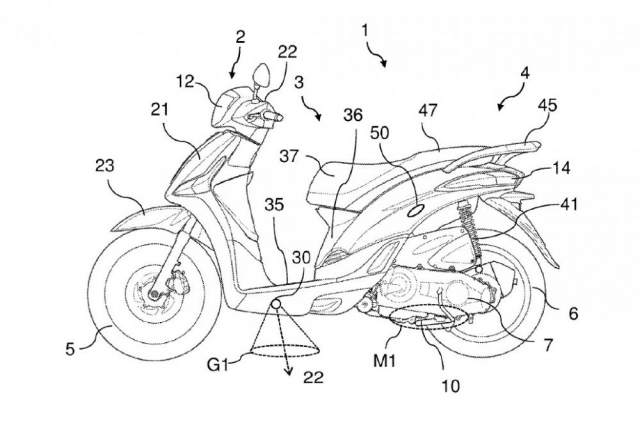 courtesy light patent for a motorcycle