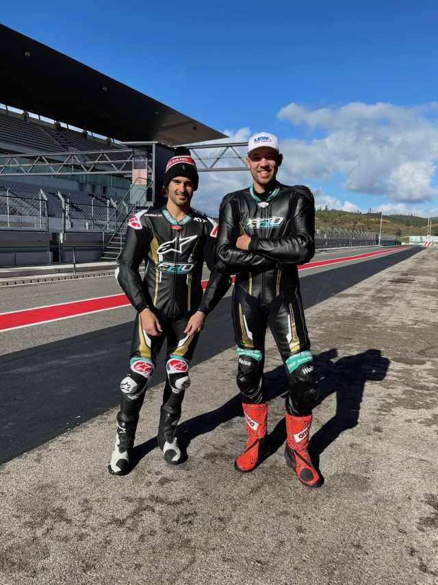 Xavi Fores Peter Hickman FHO Racing Testing