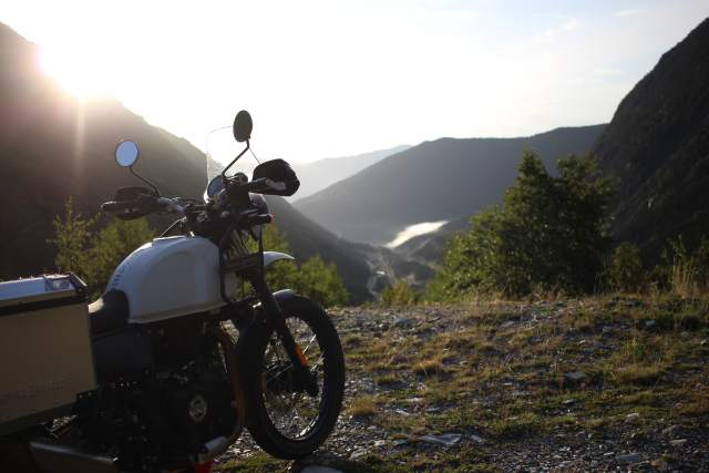 A motorcycle in the Pyrenees