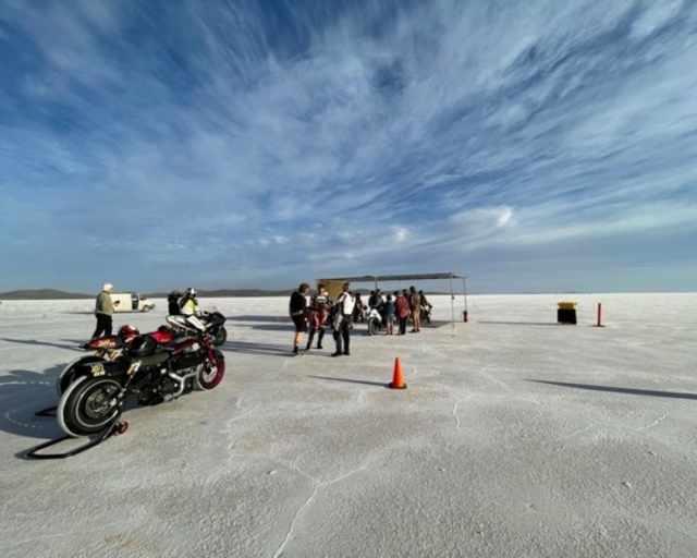 Royal Enfield Salt Flats record