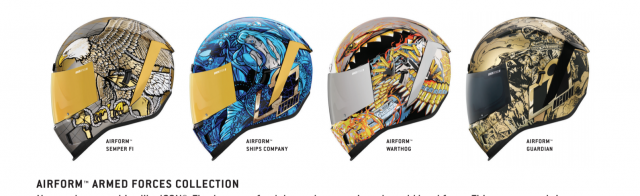 Icon Motosports Airform Armed Forces Collection 2021