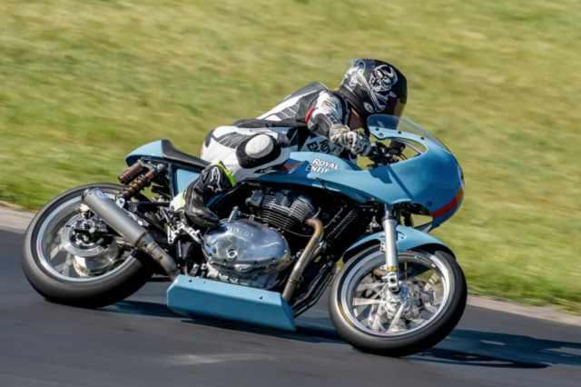 Trisha Dahl racing Royal Enfield Continental GT 650