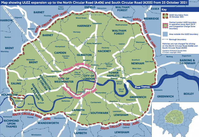 ULEZ expanded zone October 2021