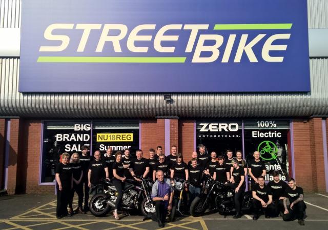 Streetbike Triumph dealer