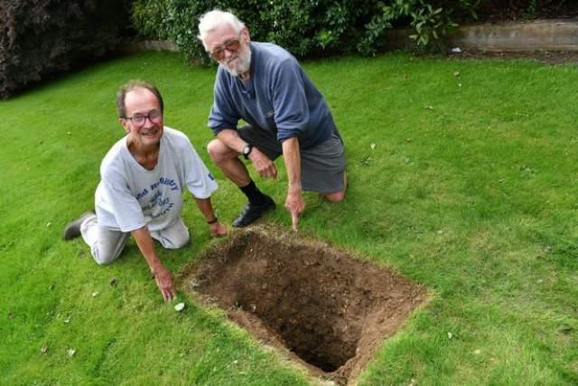 Surrey gardener finds wartime motorcycle buried in garden