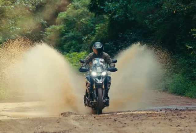 Ricky Carmichael tears it up on the new Triumph Triger 1200