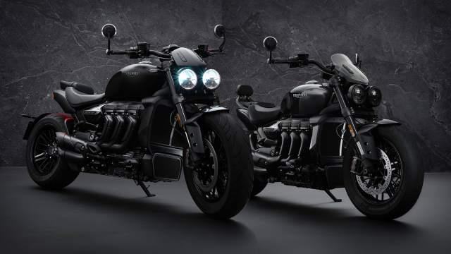 Triumph Rocket 3 black both bikes