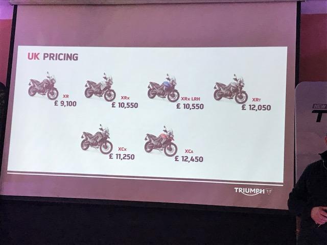 Triumph Tiger 800 prices announced