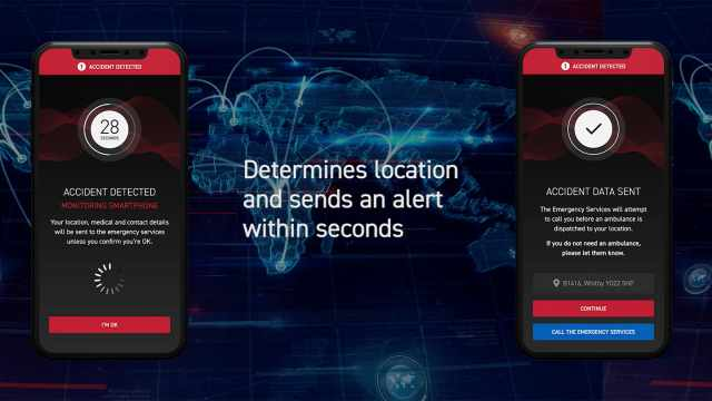 Triumph SOS app phone screen