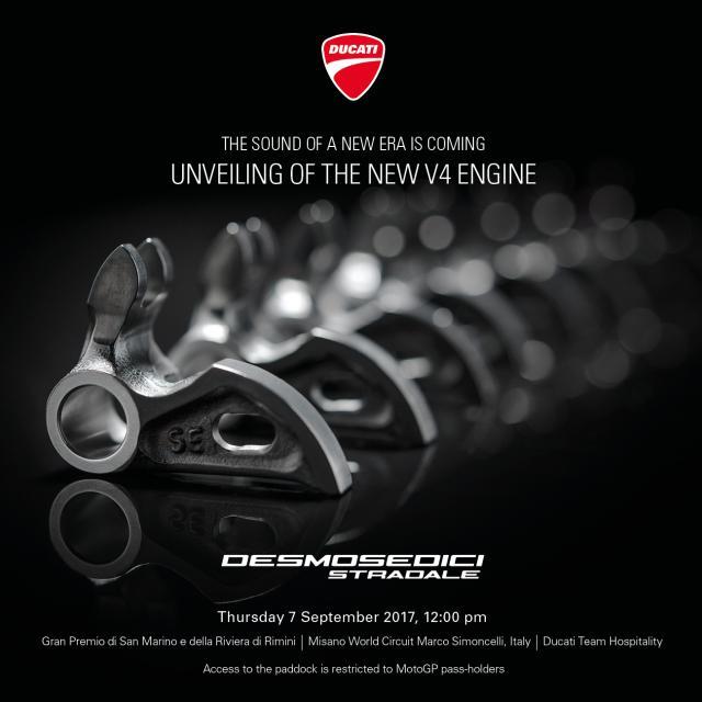 Ducati V4 breaks cover