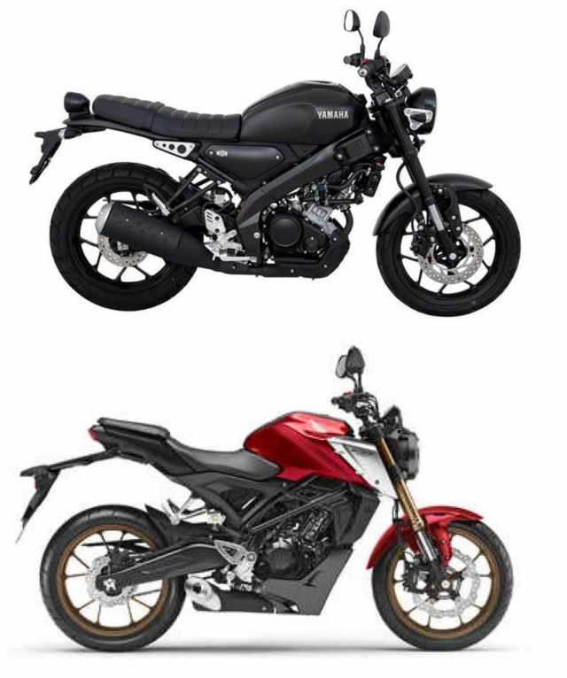 Yamaha XSR155 vs Honda CB125R