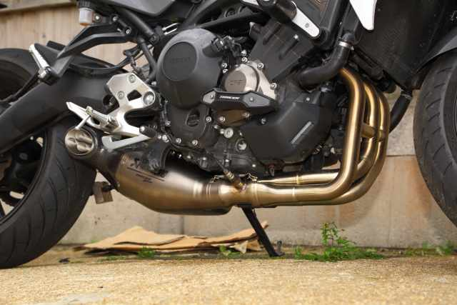 Yamaha Tracer Akrapovic exhaust fit