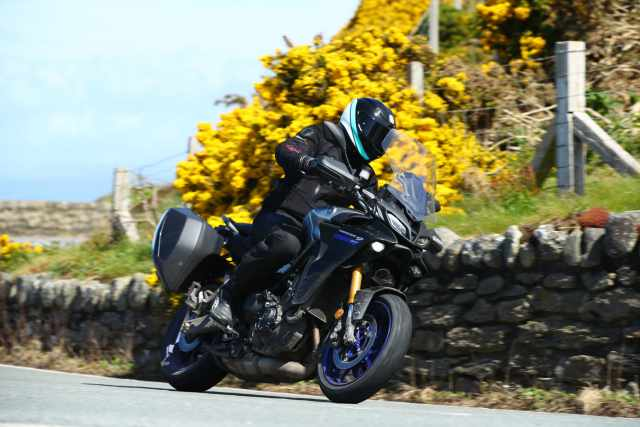 Yamaha Tracer 9 GT Riding shot 2021