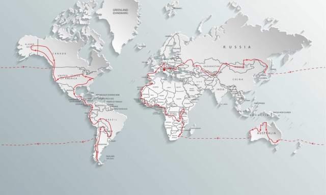 All Around the World 2 map