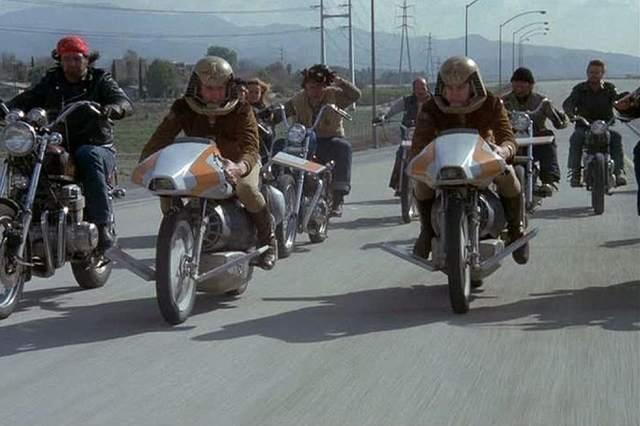 Battlestar Galactica Flying Motorcycles