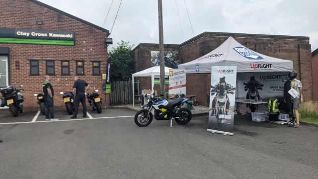 Bikerdown UpRight Derbyshire road safety