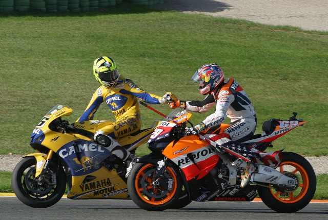 Nicky Hayden, Valentino Rossi