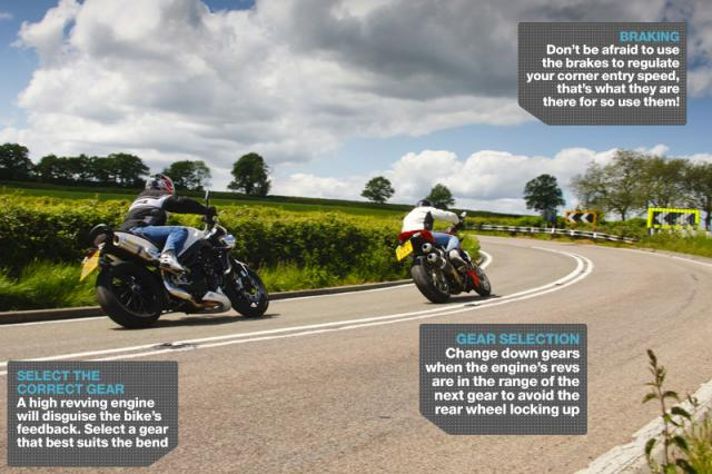 Advanced Motorcycle Riding Course: Cornering - brakes, gears and deceptive corners