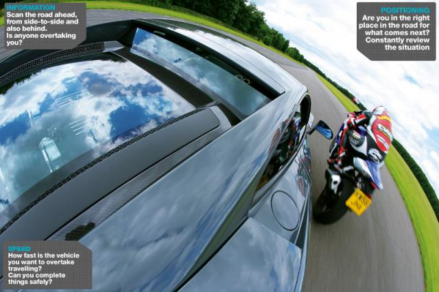 Advanced Motorcycle Riding Course: Overtaking - road positioning
