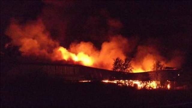 Huge fire guts M&P Motorcycles in Swansea