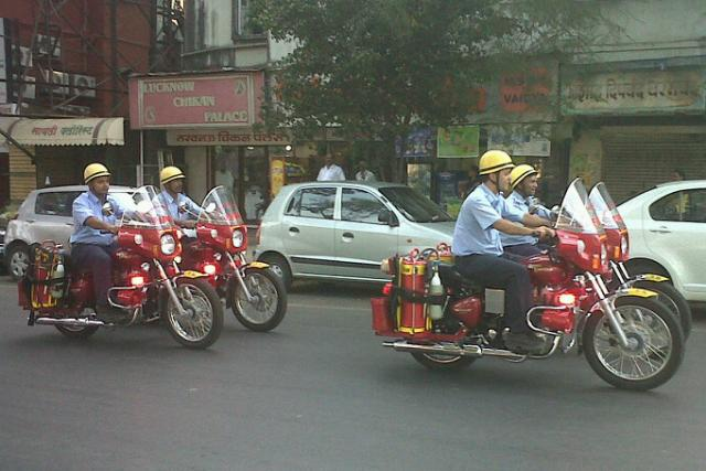 Royal Enfield fire engines