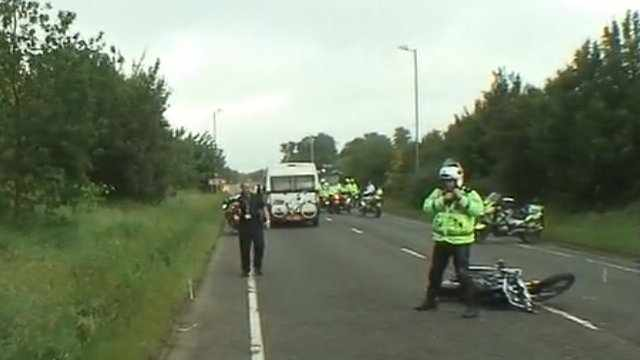 Motorcycle crash delays Olympic torch