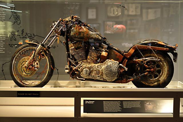 Tsunami Harley on display