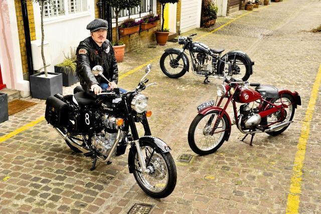 Adam Ant's motorcycles on sale