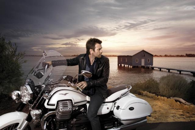 Ewan McGregor is 'the face' of the Guzzi 1400