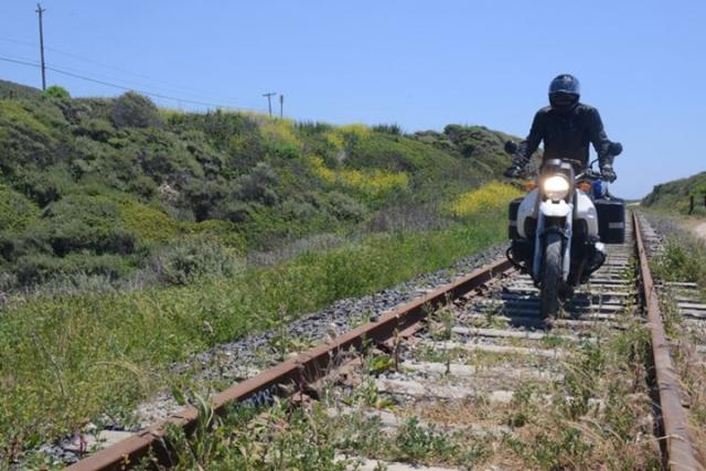 Train hits motorcycle at level crossing