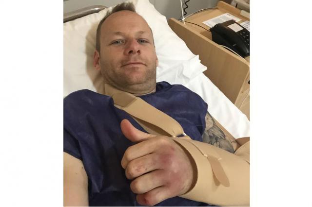 Shane Byrne undergoes surgery on broken hand