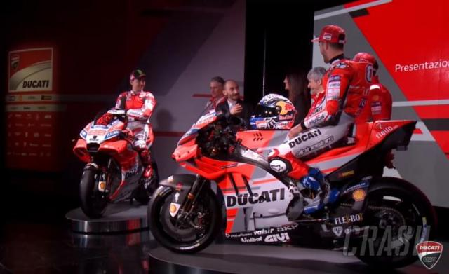 MotoGP: Ducati reveals red, white and grey Desmosedici at 2018 team launch