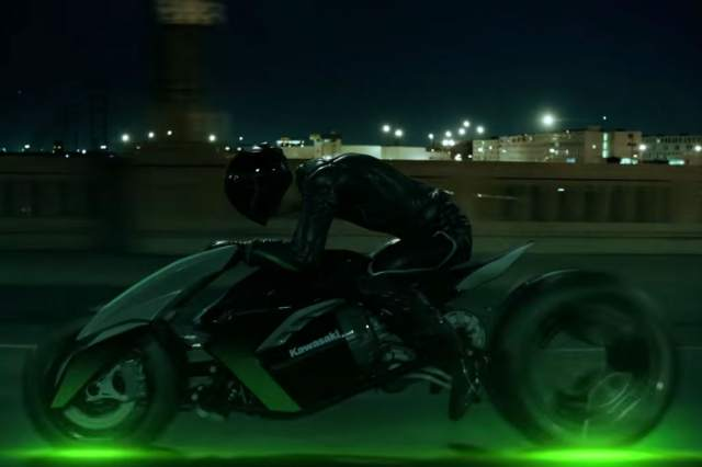 Watch: new teaser video for futuristic Kawasaki three-wheeler