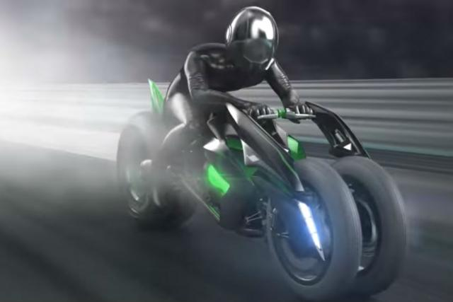 More on Kawasaki's futuristic leaning three-wheeler