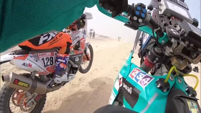 Watch: Brit rider Lyndon Poskitt's daily Dakar videos