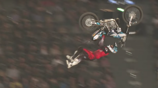Best 3 freestyle motocross tricks from NIGHT of the JUMPS 2017