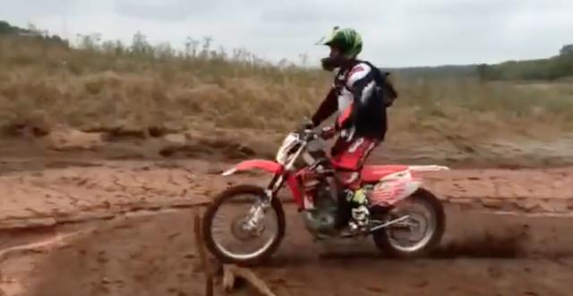 Dirt bike v Mud