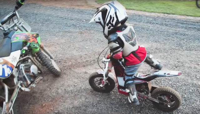 4-year-old rider is destined to be a motocross superstar