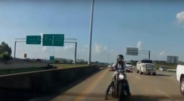 Is this the strangest bike crash ever?