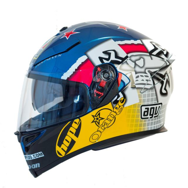 Guy Martin replica AGV helmet