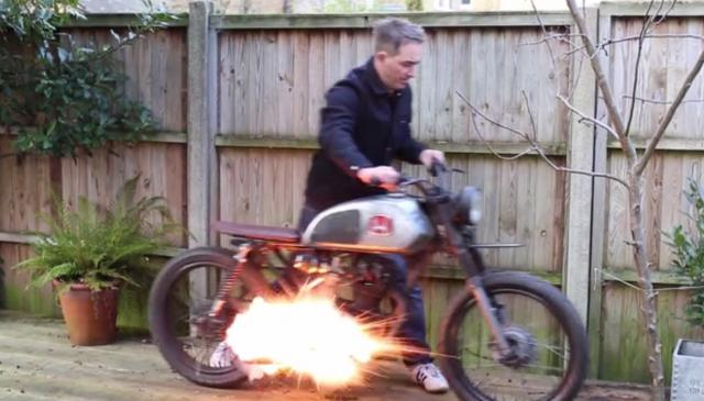 Booby trap bike alarm