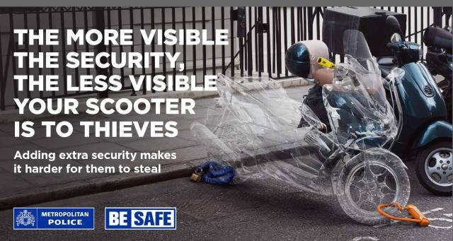 Met police scooter theft campaign poster